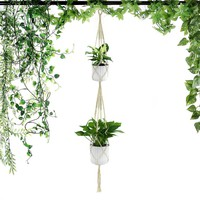 Macrame Plants Hanger / Retro Flower Pot Hanging Rope