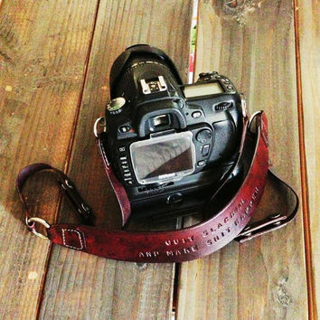 Custom Leather Camera Strap, Doubles as a Hand Carry Strap