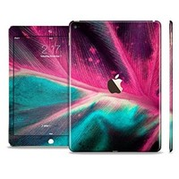 The Neon Pink & Green Leaf Sectioned Skin Set for the Apple iPad Air 2