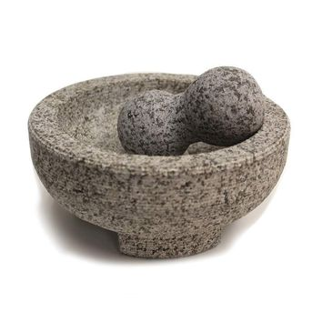 "8"" Granite Molcajete Mortar and Pestle"