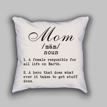 Mom with definition - Throw Pillow Case