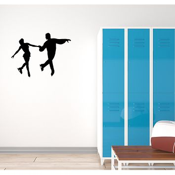 Vinyl Decal Wall Sticker Figure Skating Sport Dancing Ice Decor Couple (g022)