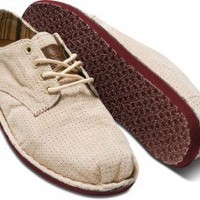 Taupe Perforated Suede Desert Oxfords | TOMS.com