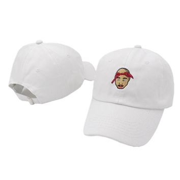 cc kuyou All Eyes On Me 2pac Embroidered Dad Hat