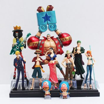 10pcs/se Japanese Anime One Piece Action Figure toy Collection