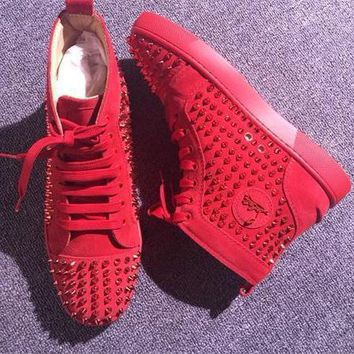 Cl Christian Louboutin Louis Spikes Style #1881 Sneakers Fashion Shoes - Sale