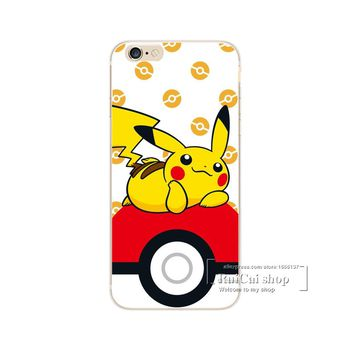 Pokemons Go Cases Cover For iPhone 4 4S 5 5S SE 5C 6 6S 7 Plus Transparent Hard Plastic Phone C