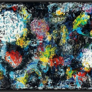 BLOSSOM MOON 22L X 28H Floater Framed Art Giclee Wrapped Canvas