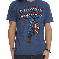 Marvel Universe Captain America Tri-Blend Slim-Fit T-Shirt 2XL