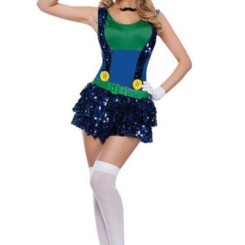 Playful Shiny Super Mario Funny Halloween Costumes