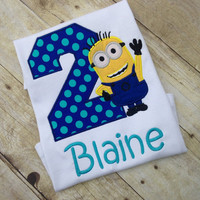 Despicable Me Birthday Shirt, Minion Birthday Shirt, Any Name, Any Age, Name Included!!!