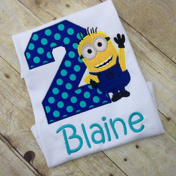 Despicable Me Birthday Shirt Minion Any Name Age