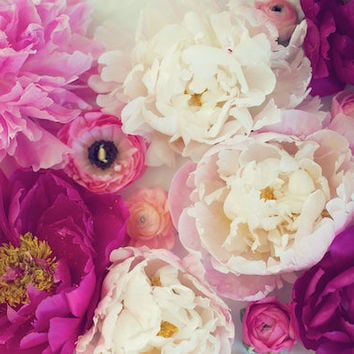 Peonies and Ranunculus Spring Fine Art by KristinKirkley on Etsy