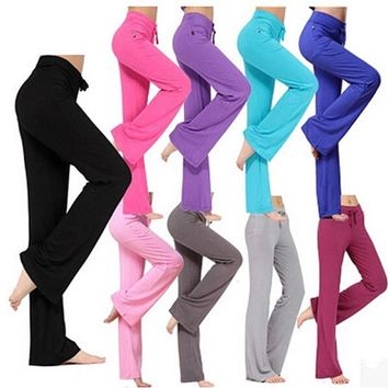 Latin dance yoga pants loose sweatpants