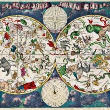 Zodiac Map Poster Standup 4inx6in