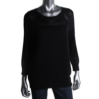 DKNY Womens Knit Crew Neck Pullover Sweater