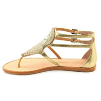 Sigerson Morrison Womens Leather Beaded Thong Sandals