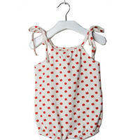 Red Apple Organic Baby Summer Romper