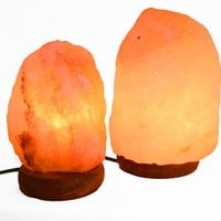 Manhattan Comfort 6 and 8 Natural Shaped Himalayan Salt Lamp 1.6 and 1.8. Set of 2 with Dimmer