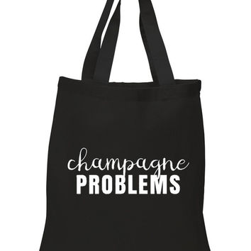 "Nick Jonas ""Champagne Problems"" 100% Cotton Tote Bag"