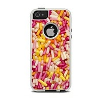The Orange and Pink Candy Sprinkles Apple iPhone 5-5s Otterbox Commuter Case Skin Set