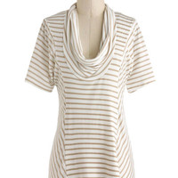 Overnight Travel Top in White Pepper