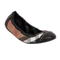 Burberry Women's 'Southwark' Studded House Check Ballet Flats
