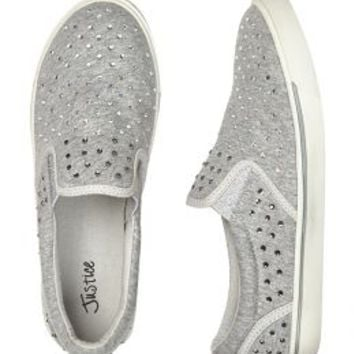 Studded Jersey Slip On Sneakers | Girls Slippers Shoes | Shop Justice