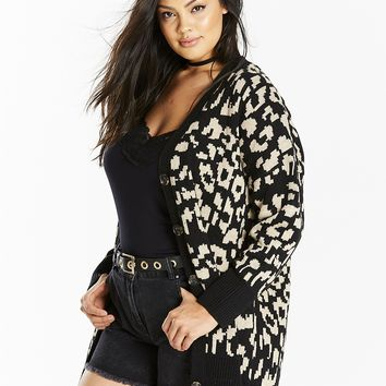 Animal Jacquard Cardigan | SimplyBe US Site