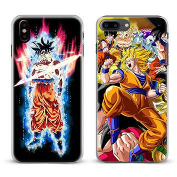 Dragon Ball Z GT Super Goku Anime Phone Case For Apple iPhone X 8Plus 8 7Plus 7 6sPlus 6s 6Plus 6 5 5S SE Cover Shell