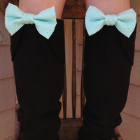Boot Bows -Mint Clip on accessories for your favorite boots, shoes or bag