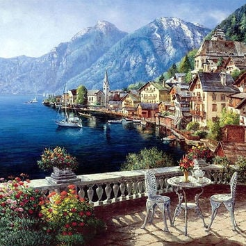 Landscape DIY Painting By Numbers DIY Digital Canvas Oil Painting Home Decor For Living Room Wall Art GX4790 40*50cm