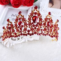 Red White Pageant Wedding Crystal Tiaras And Crowns