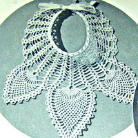 Crochet Pineapple Collar Pattern From 1940's Direct Checkout