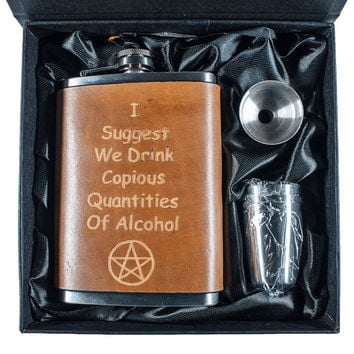Copius Quantities of Alcohol Flask Set