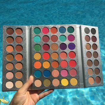 BEAUTY GLAZED 63Color Matte Eyeshadow Naked Pallete Makeup Earth shadows Pigmented Waterproof Cosmetics sombra TSLM2