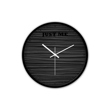 Black Silent Wall Clock