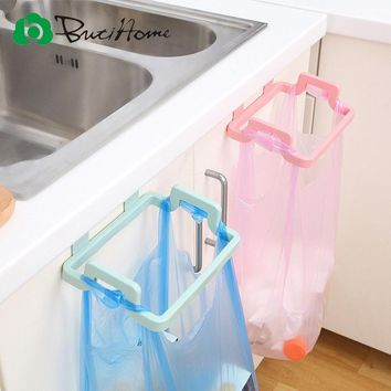 Kitchen Trash Bags Brackets Household Cabinets Rags Storage Rack Kitchen Trash Rack