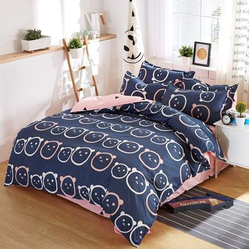 Soft Summer Bedding Sets 4 pcs with Comforter Cover