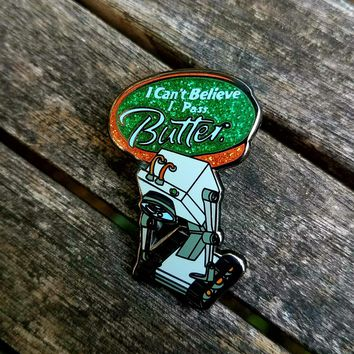 Gift Pack of (5) Bielanski's Butter Robot Rick and Morty Hatpins