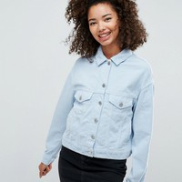 ASOS Cord Jacket in Pastel Blue at asos.com