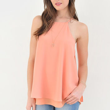 Spaghetti Strap Layered Top