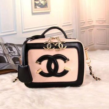 DCCKSP2 CHANEL Women Shopping Bag Leather Satchel Tote Handbag Shoulder Bag