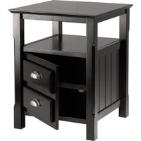Timber Night Stand Black