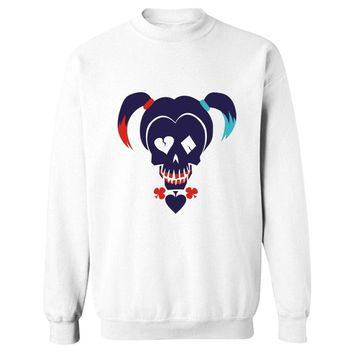 2017 Suicide Squad Capless Sweatshirt Men Autumn Casual Black Harley Quinn Hoodies Men Funny Fashion Suitable Clothes XXS-4XL