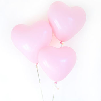Pink Heart Balloons, Valentine's Day Props, Engagement Balloons, Valentine's Day Photoshoot Props (FREE SHIPPING)