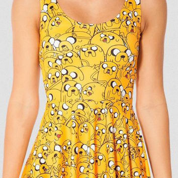 Adventure Time Digital Print Sleeveless A-line Skater Mini Dress