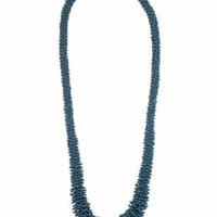 Long Beaded Rope Necklace - Turquoise