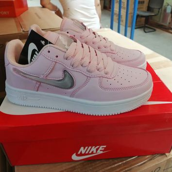 """""""Nike Air Force 1"""" Women Casual Fashion Jelly Low Help Plate Shoes Sneakers"""