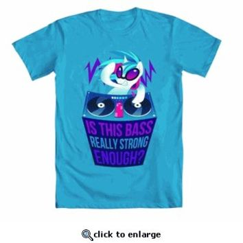 My Little Pony Is This Bass Really Strong Enough? Adult Turquoise Blue T-Shirt - My Little Pony - Free Shipping on orders over $60 | TV Store Online